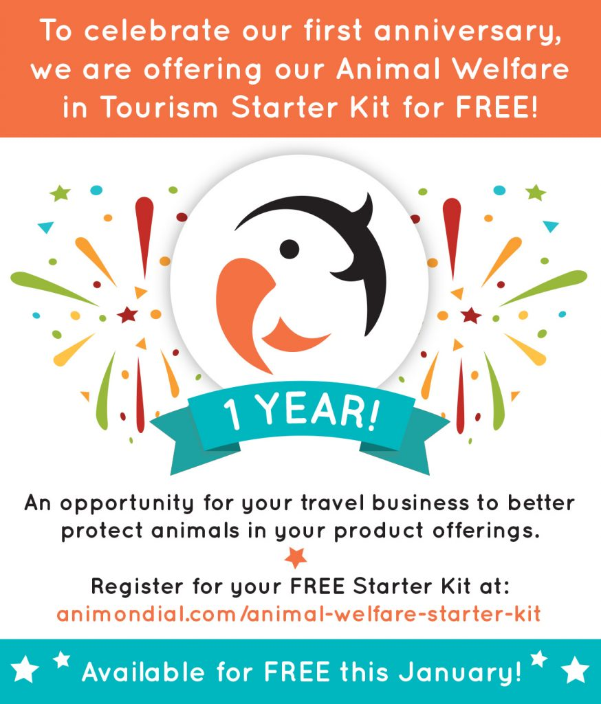 ANIMONDIAL: Register for your FREE Animal Welfare in Tourism Starter Kit