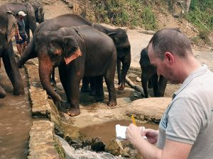 ANIMONDIAL: Daniel Turner visiting Elephant Camps in Thailand