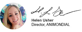 Helen Usher, Director ANIMONDIAL